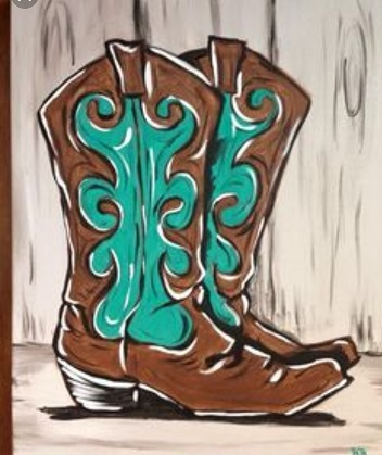 adult painting boots